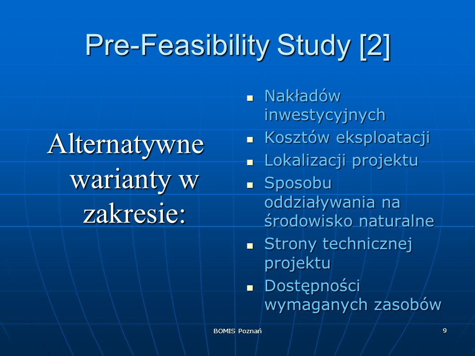 Pre-Feasibility Study [2]